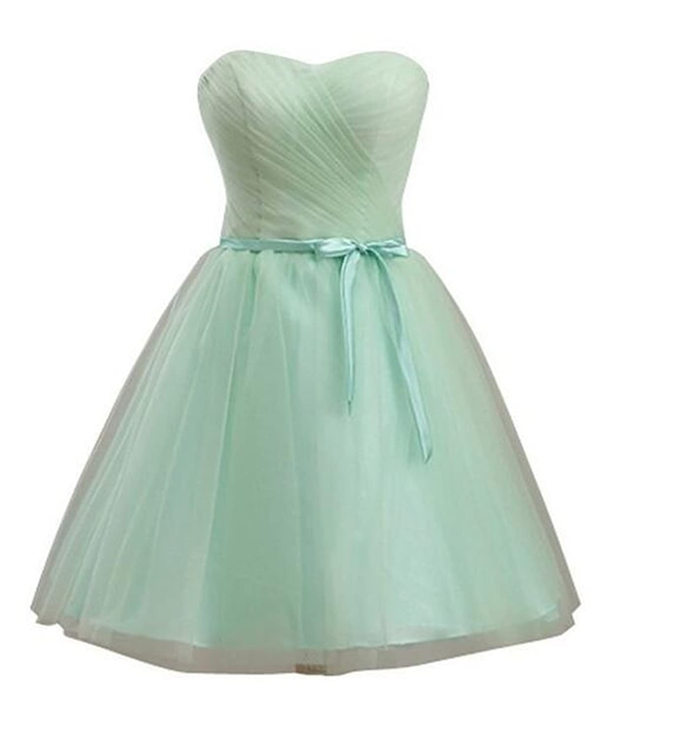 SimpleDressUK Short Women's Tulle Cocktail Party Dress Bridesmaid Dress