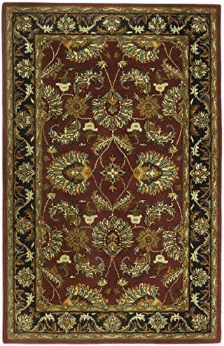 Traditions Agra Rug, 8 x 11 , Burgundy