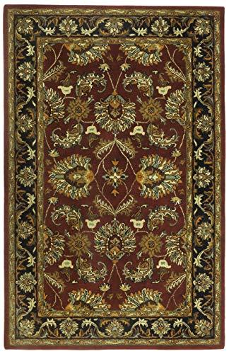 Traditions PT80020 Agra Rug, 8' x 11', Burgundy