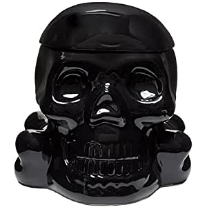 Sourpuss Skull Cookie Jar Black