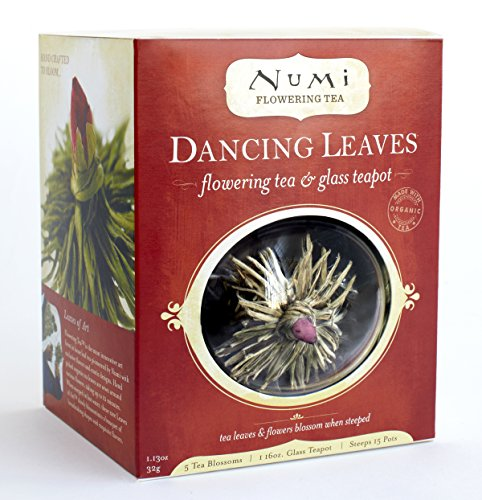 Numi Organic Tea Dancing Leaves Flowering Tea & Teapot Gift Set (Packaging May Vary)