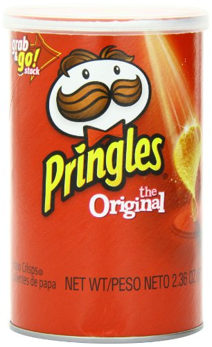 Price comparison product image Pringles Potato Crisps Chips, Original Flavored, Grab and Go, 28.3 oz Box (12 Cans)