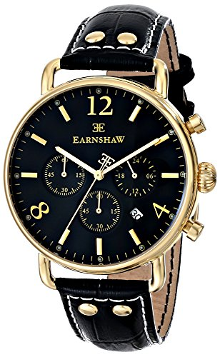 Thomas Earnshaw Men's ES-8001-01 Investigator Analog Display Japanese Quartz Black Watch