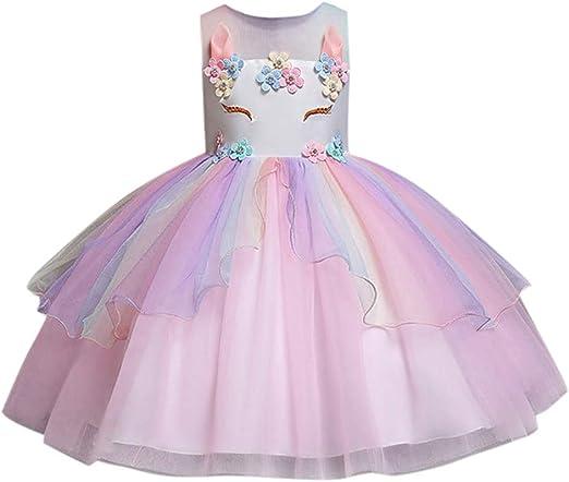 Hunpta@ Vestido de Princesa niñas y bebés, Falda de Tul sin Mangas ...