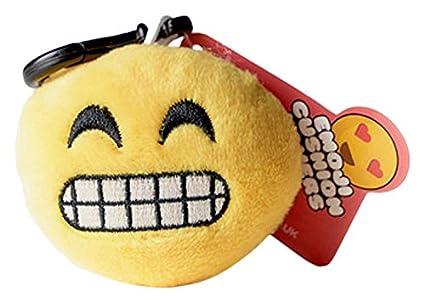 Cojín Mini uglymug Emoji cursi Sonrisa Emoji Llavero: Amazon ...