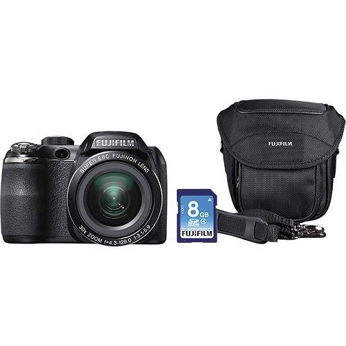 Fuji FinePix S4830 Digital Camera with 16 Megapixels and 30x Optical Zoom, Includes Bag, 8GB SD Card, 100 Bonus Prints and an 8x10 Mounted Photo