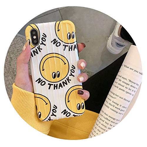 Cartoon Smiley for iPhone X Mobile Phone Shell for iPhone Xs Max/Xr Cute Female 8Plus Personality New Wave,for iPhone Xs Max