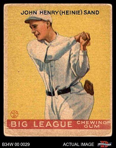1934 Welt breit Gum # 27 Heinie Sand (Baseball Card) Dean'S Cards 2 - Good