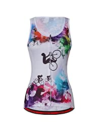 ZM Women Cycling Jerseys Vest Breathable Full-Zipper Comfortable Bicycle Top