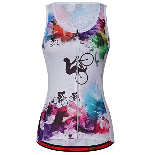Cycling Sleeveless Jersey Vest Women /Bicycle Cycle summer Vest Women /Breathable Bike Vest Sleeveless (XL, - Summer Cycling Jersey
