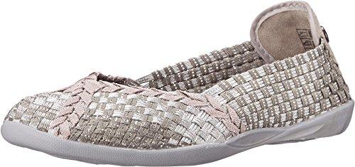 Bernie Mev Women's Braided Catwalk Silver Grey/Rose Gold Flats - 4.5 B(M) US ()
