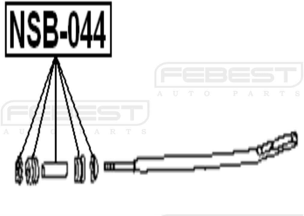 For Nissan 5 Set Cushion Strut Bar 54479-50W00 // 5447950W00