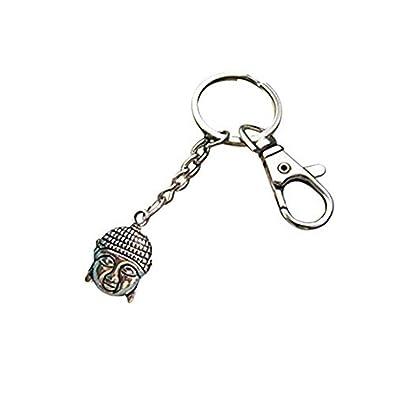 Llavero de Buda de buena suerte feliz, joyas de Buda regalo ...