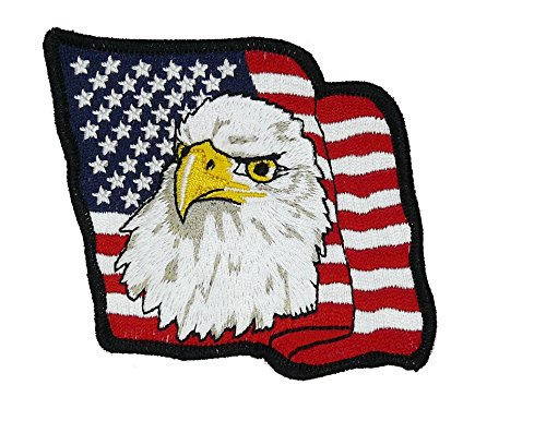 American Bald Eagle Flag Halloween Costume Jacket Shirt Hat Cap Embroidered Patch Easy Iron On … ()