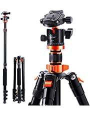 """K&F Concept Camera Tripod 78""""/200cm DSLR Tripods Aluminum Travel Vlog Tripod Monopod with 360° Panorama Ball Head 1/4"""" Quick Release Plate Carrying Case Loading Up to 17.6lbs/8kg for Canon Nikon"""