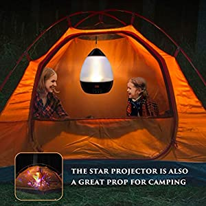 Night Lights for Kids, SCOPOW Colorful Constellation Star Sky Kids Night Lamp with LED Timer, Auto-Shut Off and 360 Degree Rotation (Black)