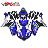 (US) Sportfairings Full Fairing Kit For Yamaha YZF1000 YZF-1000 R1 2007 2008 Year 07-08 Complete Cowling Eneos Blue Complete Cowling
