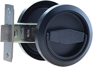 304 Stainless Steel Furniture Locks Hidden Recessed Cup Door Handles Lock and Lockers Without Keys (Black)
