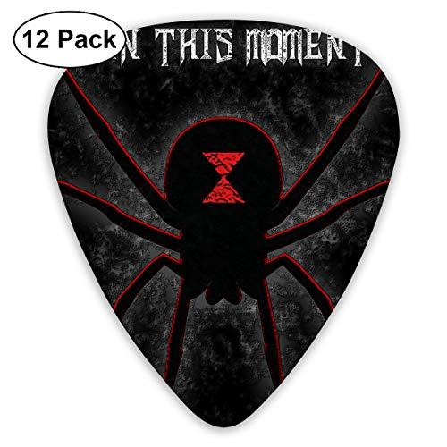Bonnie D Erhart in This Moment-Black Widow Basic ABS Guitar Pick 12pcs(0.46mm 4pcs/0.73mm 4pcs/0.96mm 4pcs)