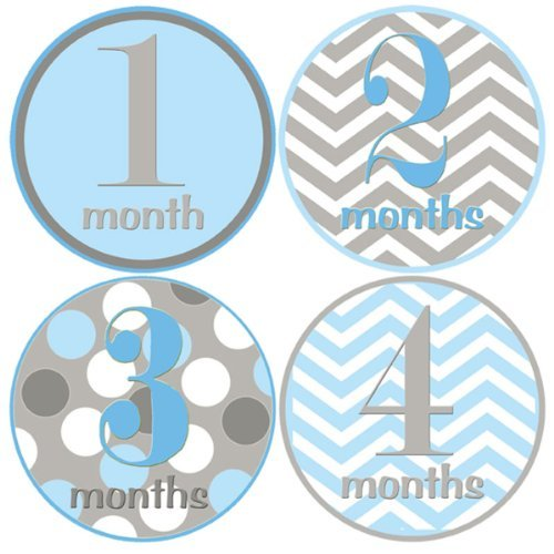 (Mumsy Goose Baby Boy Monthly Stickers 1-12 Months)
