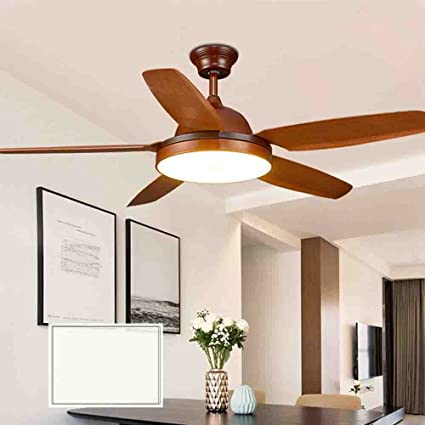 AorakiLights Simple Dining Room Wooden Ceiling Fan With Light Decoration  Led Household Bedroom Living Room Meeting