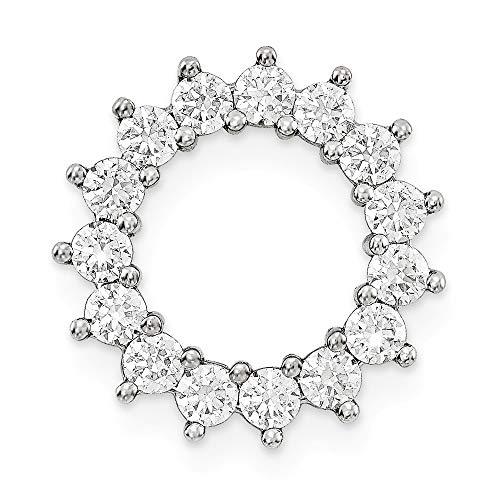 Jewelry Pendants & Charms Slides 14KW VS Diamond Chain Slide