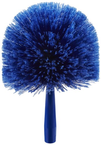 "Price comparison product image Carlisle 36340414 Flo-Pac Round Duster,  Soft Flagged PVC Bristles,  7"" Overall Diameter x 9"" Overall Length,  2-1 / 2"" Bristle Trim,  Blue (Case of 12)"