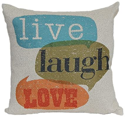 Brentwood 8022 Wordsmith Pillow, Home is Where The Heart is, 18-Inch