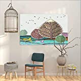BE.SUN Wall Painting Prints Sticker,for Home Decoration Wall Decor,W31x23L