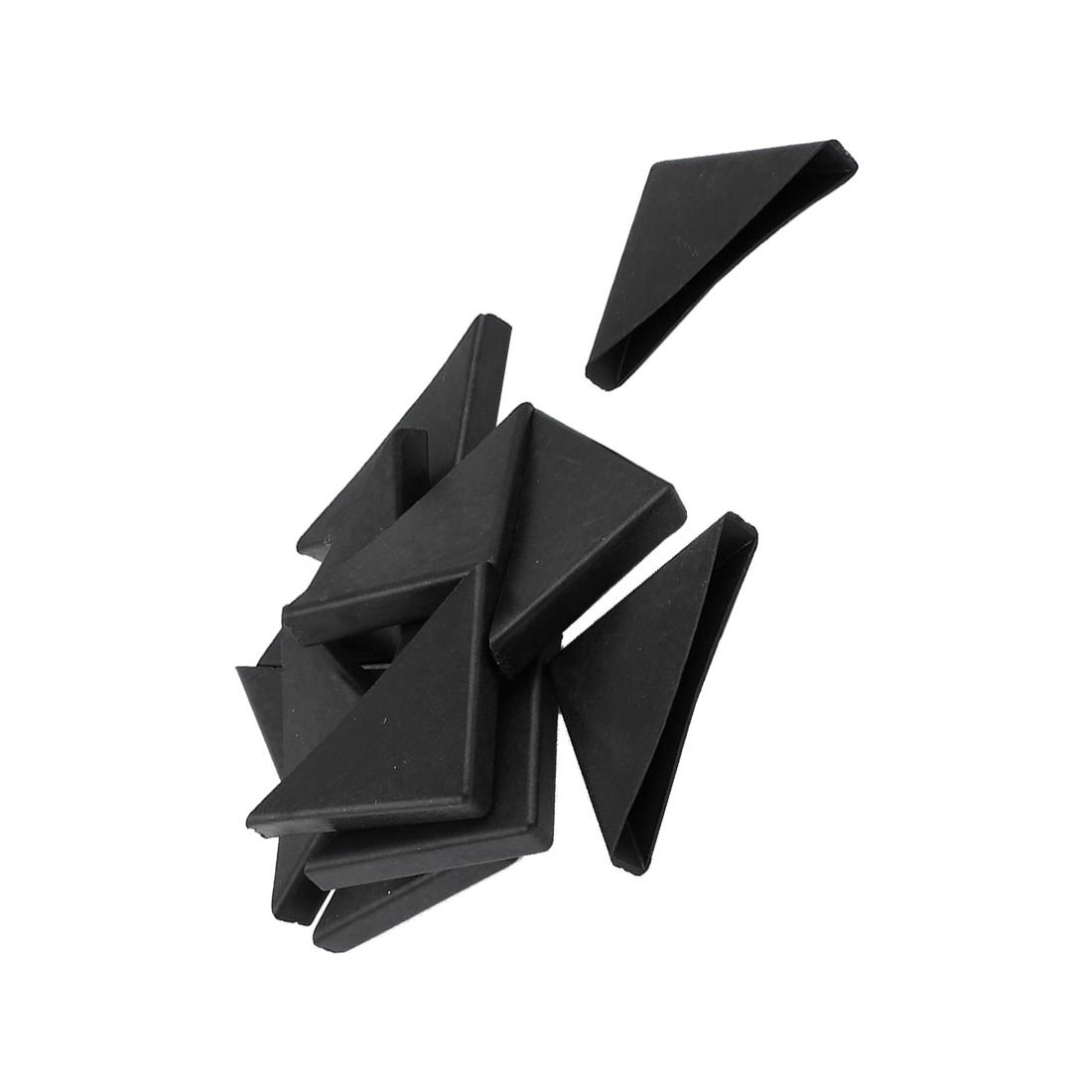 TOOGOO 12 Pc Shape Triple-cornered Glass Table Corner Protector Cushion 10mm x 75mm