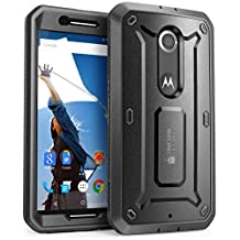 Nexus 6 Case, SUPCASE [Heavy Duty] Belt Clip Holster Case for Google Nexus 6 (2014 Release) [Unicorn Beetle PRO Series] Full-body Rugged Hybrid Protective Cover with Built-in Screen Protector (Black/Black)