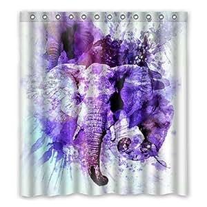 "dalliy Custom Colorful Elephant poliéster cortina de ducha 167cm x 183cm, poliéster, C, 66"" x 72"""