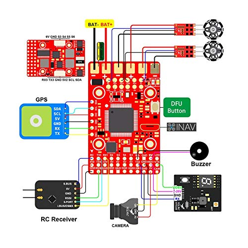 Wikiwand HGLRC F4 Wing Flight Controller FC for Fixed-Wing Racing Drone 2S -6S 8S Lipo by Wikiwand (Image #1)
