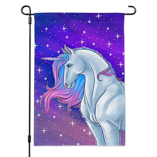 Graphics and More Majestic Unicorn Pink Purple Blue Garden Y