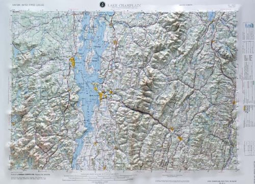Map Raised Relief 21 - American Educational Products Nl1812 Lake Champlain Regional Raised Relief Map