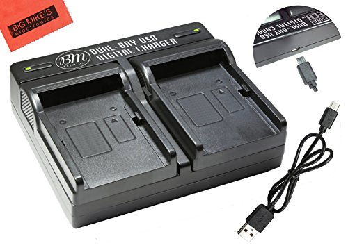 I-92B Dual Battery Charger for Olympus Tough TG-5, TG-Tracker, Tough SH-1, SH-2, SP-100, SP-100 IHS, SP100EE, TG-1 iHS, TG-2 iHS, Tough TG-3, Tough TG-4, SH-50 iHS, SH-60, XZ-2 his ()