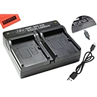 BM Premium LI-90B, LI-92B Dual Battery Charger for Olympus Tough TG-5, TG-Tracker, Tough SH-1, SH-2, SP-100, SP-100 IHS, SP100EE, TG-1 iHS, TG-2 iHS, Tough TG-3, Tough TG-4, SH-50 iHS, SH-60, XZ-2 his