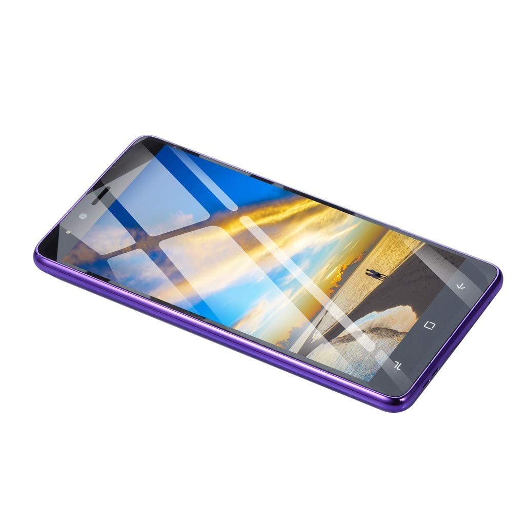 2019 New -Unlocked Smartphone, 5.0''Ultrathin Android 5.1Dual-Core 512MB+4G GSM WiFi Blue-Tooth Dual SIM Camera Mobile Phone Cell Phone (Purple)