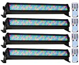 (4) American DJ Mega Bar 50RGB RC RGB LED Color Wash And Strobe Bar Effect Lights With Included RF Remote