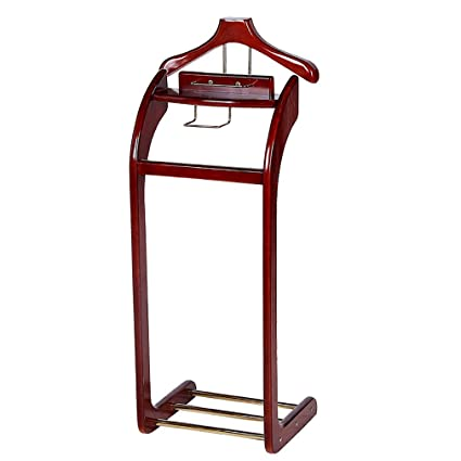 Amazon.com: Wood Business Suit Rack Hat And Coat Stand Floor ...