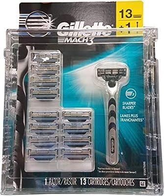 Gillette Mach 3 - Mango para maquinilla de afeitar con cartuchos ...