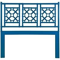 David Francis Furniture Lattice Back Headboard, Queen, Surf Blue