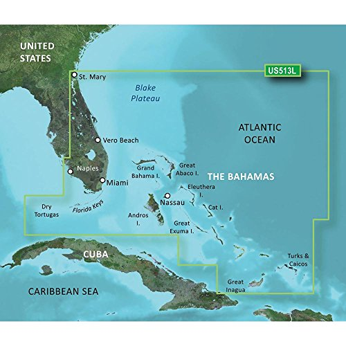 Amazon.com: New-GARMIN VUS513L JACKSONVILLE TO BAHAMAS BLUECHART G2 ...