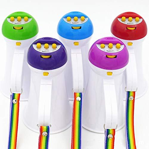 (yanbirdfx Megaphone 5W Foldable Mini Megaphone Microphone Horn Bull Loud Speaker Amplifier Bullhorn Random Color)