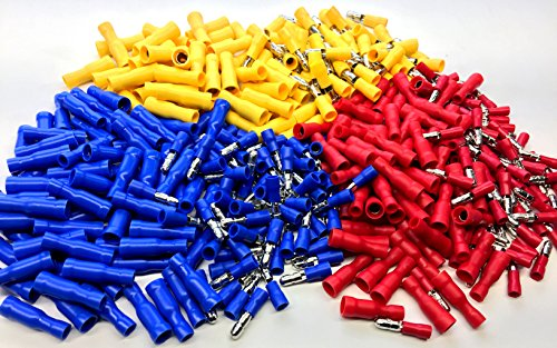 (AIRNIX 380 Piece Male Female Insulated Bullet Disconnect Crimp Terminals Kit 22-10 AWG in Storage)