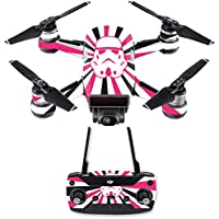 Skin for DJI Spark Mini Drone Combo - Pink Star Rays| MightySkins Protective, Durable, and Unique Vinyl Decal wrap cover | Easy To Apply, Remove, and Change Styles | Made in the USA