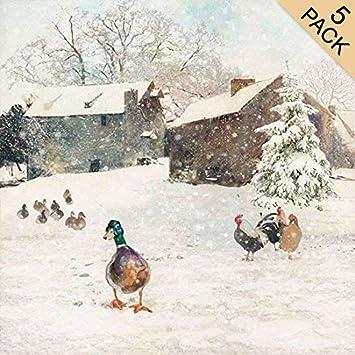 Designer Weihnachtskarten De.Luxus Designer Weihnachtskarten Ba0328 Bauernhof Ente Nbsp Ndash