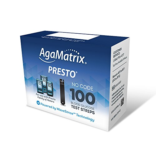Wavesense Presto Test Strips 100 Count Box Lancets Org