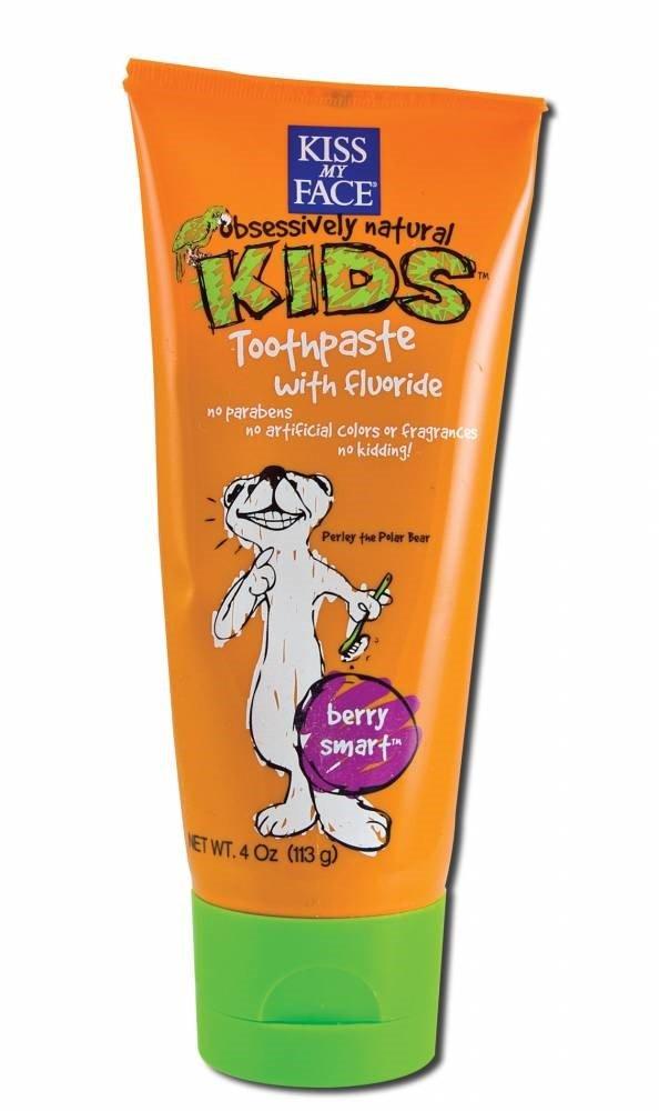 Kmf Kids Tp W/Floride Ber Size 4z Kmf Kids Toothpaste W/Floride Berry Smart 4z Kiss My Face 740705