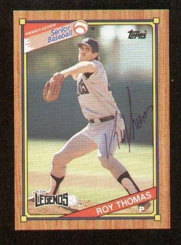 - Roy Thomas signed autograph 1989 Topps Senior Baseball